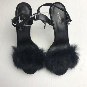 Micheal Koran's fur shoes size 8 black